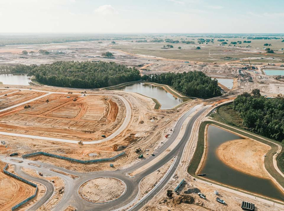 Clymer Farner Barley portfolio project, stormwater earthworks.
